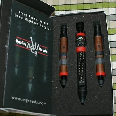 MG Drone Reeds 2 tenors and an inverted carbon bass for pipes highland bagpipe