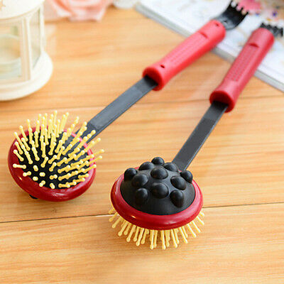 "Dual Use Telescopic Back Scratcher Massager Extendable up to 16.5"" Portable HGUK"