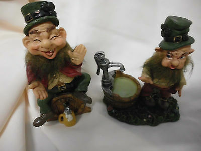 Ornamental Lucky Leprecaun Statues 2For$10- Well& Free Beer On Tap 6 Sets Avail