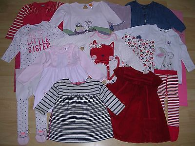 NEXT M&CO TU etc Girls Bundle Outfits Tops Dress Tights Cardigan Age 6-9m