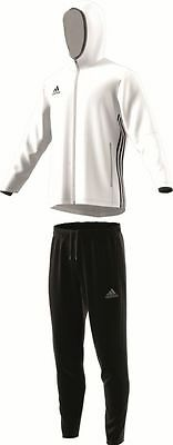 Adidas Football Youth Soccer Condivo 16 Presentation Suit Boys Climacool White .