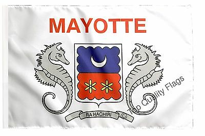 """France Mayotte Banner 30x45cm – 18""""x12"""" Small Flag"""