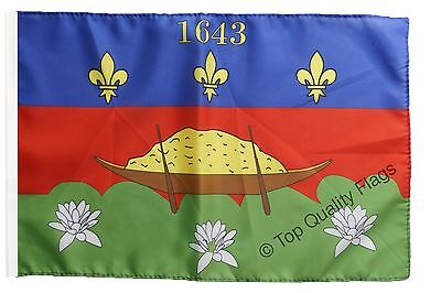 """France French Guiana Banner 30x45cm – 18""""x12"""" Small Flag"""