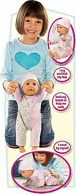 Baby Annabell Learn to Walk Doll, Crawls, Sits Up, Babbles