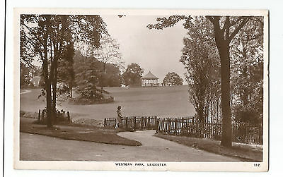 Leicestershire Leicester Western Park Real Photo Vintage Postcard 11.01