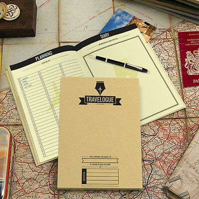 Travelogue  Paper Note Journal Scratch Map Deluxe in Travel Journal NotebookHCXM