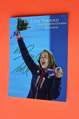 Lizzy Yarnold MBE (Skeleton Racer - 2014 Olympic Gold) Signed PR Card