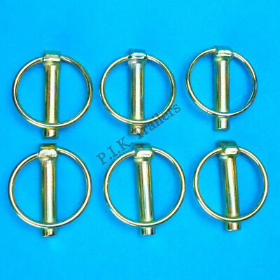6 x Lynch Pins 11mm x 50mm Linch - Trailer Horse Box Tractor Lorry Tail Gate