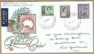 Australia 1968 Last Day of Use £SD stamps Wesley souvenir cover