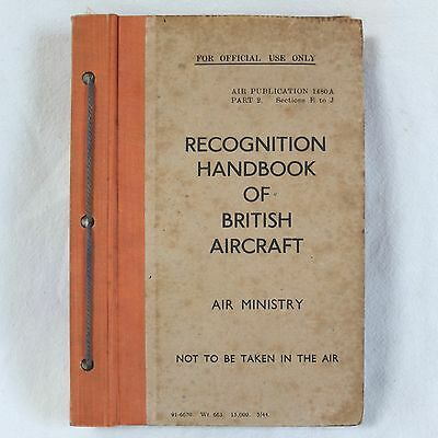 Ww2 Raf British Aircraft Recognition Manual Royal Air Force Air Ministry 1480A