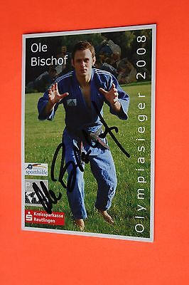 Ole Bischof (Judo - 2008 Olympic Gold) Signed PR Card