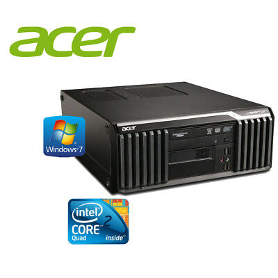 Acer Veriton S670G Intel Core2Quad Q6600 4GB DDR3 160GB Windows 7 PC Computer