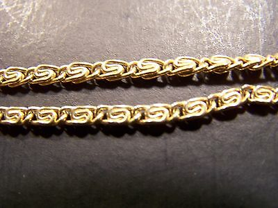 "Goldtone Pocket Watch Chain-Unmarked-13"" Long"