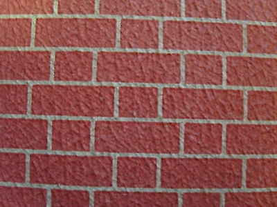 "Dolls House Textured Red Brick Exterior Wallpaper  20"" X 30"" Modelling Paper"