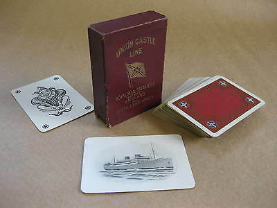 Union-Castle Line Playing Cards ~ Royal Mail Steamers S & E Africa ~ 1920's