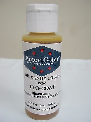 Americolor Flo-Coat 2ounce bottle Candy Making Supplies Candy Coloring USA made