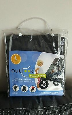 Outlook Shade-a-Babe Pram/Stroller/Pushchair/Buggy Sunshade In Black (NEW)