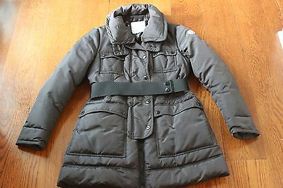 MONCLER Gray Down Jacket Size 3 or 8/10 Worn Once!