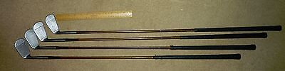 A Set Of Four Vintage Forgan St. Andrews Gold Medal Irons, 3, 4, 5, And 7