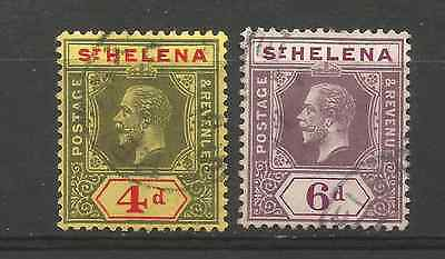 ST HELENA 1912. 4d & 6d VALUES FINE USED.