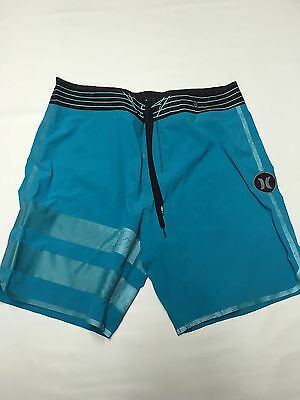 Boys HURLEY PHANTOM Blue Swim Board Shorts Sz 34