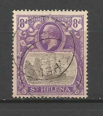 ST HELENA 1923.8d VALUE FINE USED.