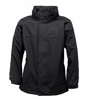 Regatta Ryd Boys Hooded Waterproof Breathable Jacket Black