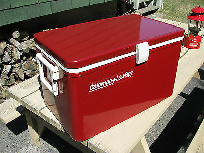 ***Price Drop! Ultra Rare Red Coleman Lowboy Steel Belted Chest Cooler/Chest!