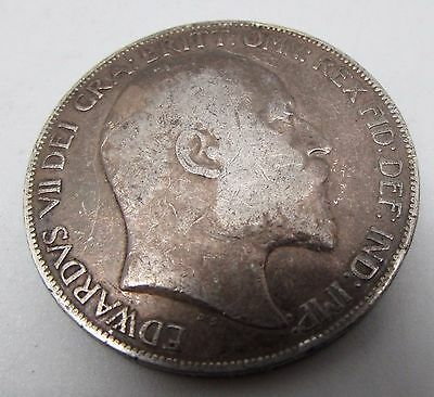 Antique Collectable 1902 KING EDWARD VII Silver Crown Coin - 28.00g