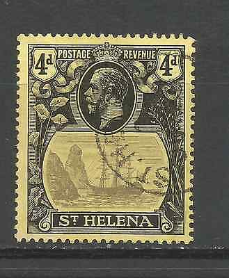 ST HELENA 1922. 4d  VALUE FINE USED.