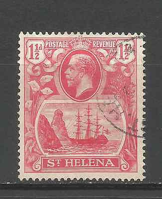 ST HELENA 1922. 1 1/2d  VALUE FINE USED.