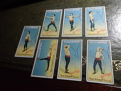 Drapkin's Cigarette Cards ~ How To Keep Fit # 2, 3, 8, 11, 12, 15, 18