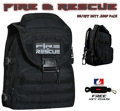 Fire & Rescue FIREFIGHTER Backpack On/Off Duty Bag tURN ouT gEAR +FREE Keychain