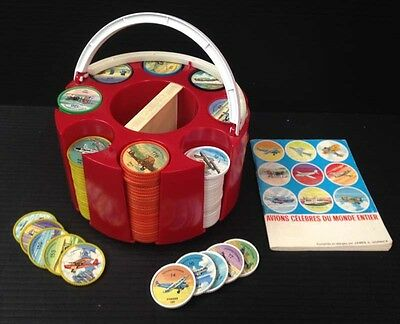 R1425.was mb $85 Jello 1960 set 200 Famous Airplane coins & carroussel & booklet