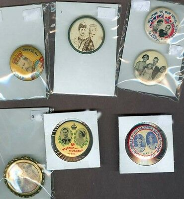 R1434.was mb $75. Lot of 7 antique pin buttons Kings & Queens