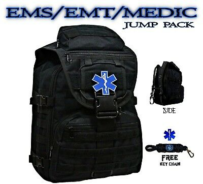 EMT Medic First Responder Backpack On/Off Duty Bag - First Aid Emergency Kit Bag