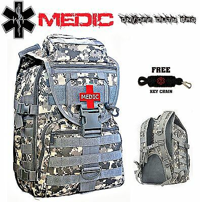 Medic First Responder Backpack On/Off Duty Bag - First Aid Emergency Jump Kit