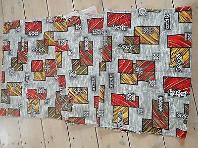 Retro Vintage 100% Authentic French Fabric 1960s