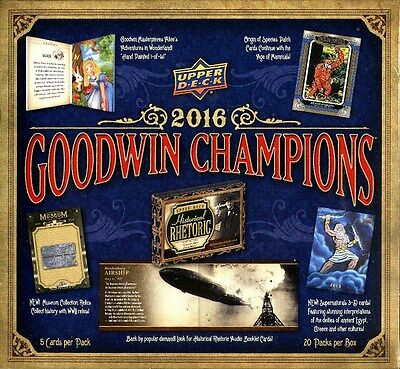 2016 Upper Deck Goodwin Champions Hobby 16 Box Case Blowout Cards
