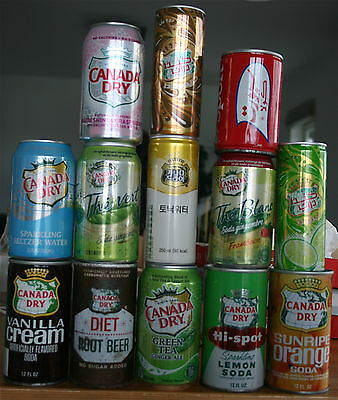 Canada Dry Can Collection (13 Cans)