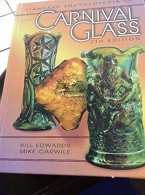 HUGE BIG Carnival Glass Price Value Guide Collector's Book 494 pg ALL COLOR PIC