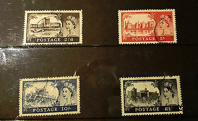 One lot of used and one lot of mint GB Castles 1955 to 1968