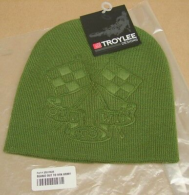 New NWT Troy Lee Designs Out To Win Beanie Winter Hat Green 2208-4100 / 25010625