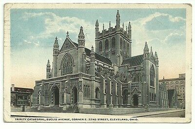 Vintage Postcard dated 1920 of Trinity Cathedral, Cleveland, Ohio