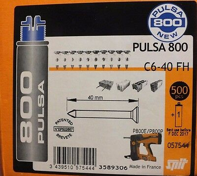 SPIT PULSA 800 NAILS & GAS NEW 40mm C6-40FH gas best before sept.2017