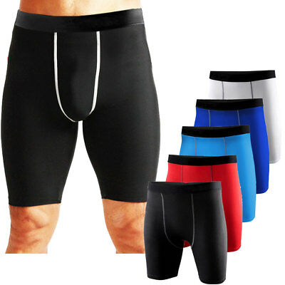 Mens Under Compression Shorts Gym Workout Fitness Base Layers Running Tights