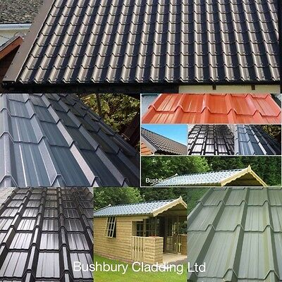 steel roofing, corrugated, tile effect, galvanised roof sheets