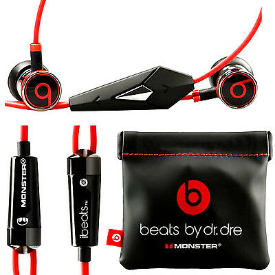 ORIGINAL MONSTER iBEATS BEATS BY DR. DRE IN-EAR HEADSET KOPFHÖRER --- SCHWARZ