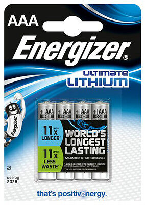 4x ENERGIZER ULTIMATE LITHIUM AAA BATTERIEN MN2400 LR03 MICRO OVP - NEU