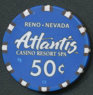 Atlantis Casino Reno $.50 Cent Chip 2013